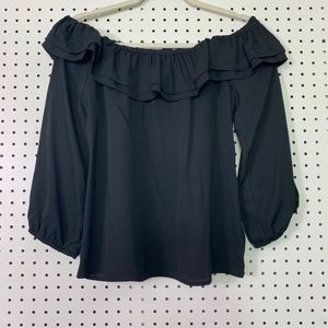 🍒NWT J.Crew Mercantile Off-Shoulder Blouse Small